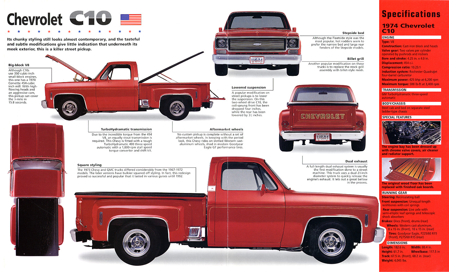 68 c10 short bed weight