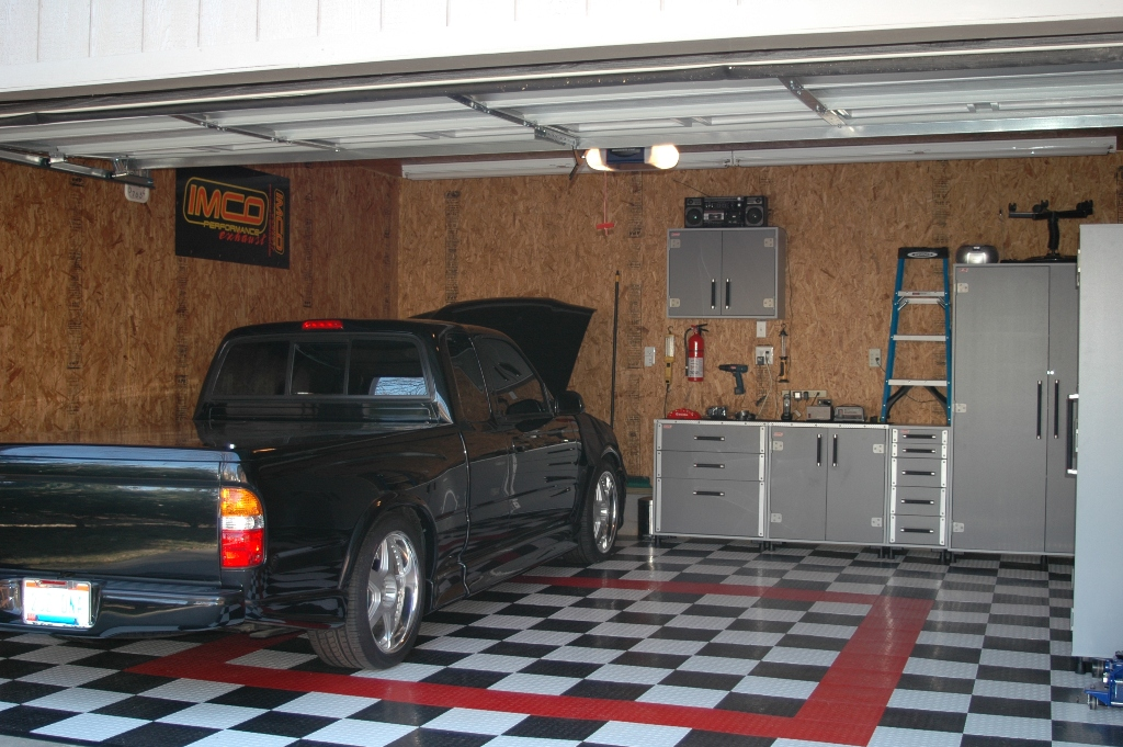 Great Here Is My Garage With Osb Interior Walls. I Hope To Paint It This  Spring/summer. I Used Drywall Screws To Attach It.